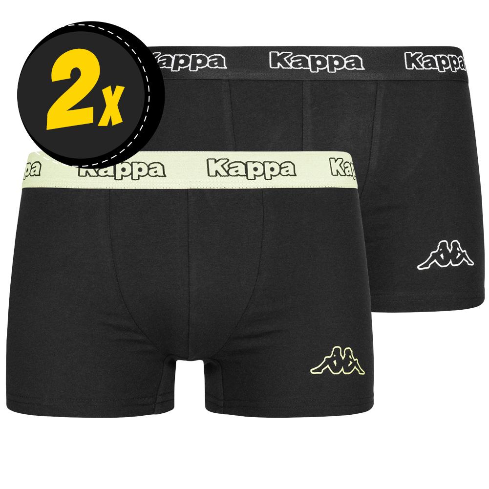Kappa 2er-Pack Herren Boxershorts (Gr. S- XXL, 5 verschiedene Farben) für 6,99€ zzgl. Versand - z.B. 6-er Pack für 24,92€