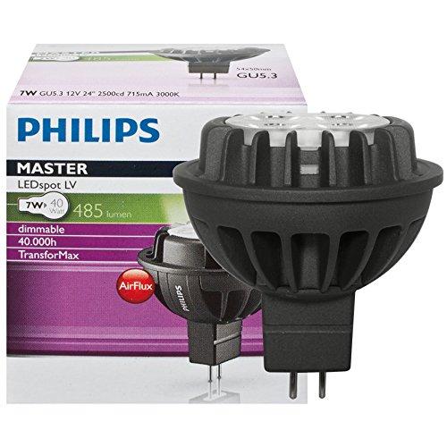 [Prime]Philips 74137400 Energy Saving lamp-led warmweiß Lampe (schwarz A 50 – 60 Hz 715 MA) 5,4 cm [Energieklasse A]