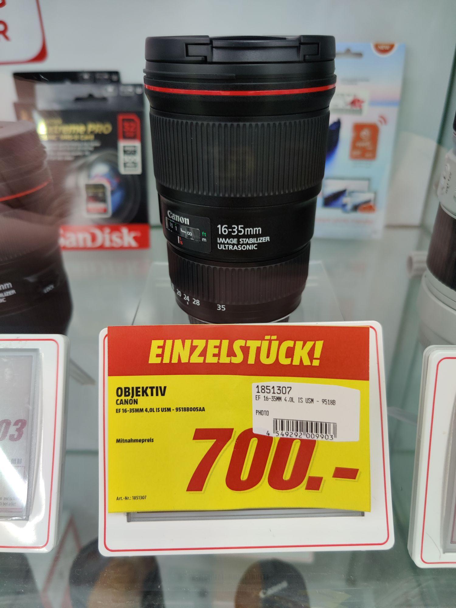 (Lokal) Media Markt Heilbronn - Canon EF 16-35 F4