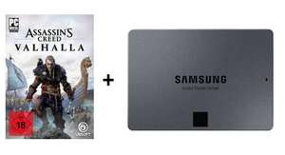 Assassins Creed® Valhalla (PC) + Samsung 870 QVO 1TB SSD (3D-NAND QLC, 1GB Cache)