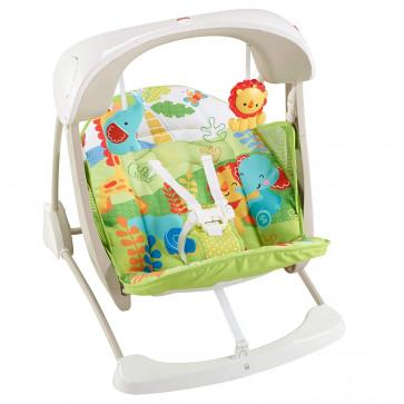 Fisher-Price 2-in-1 Babyschaukel kompakt mit Musik und sechs Geschwindigkeitsstufen