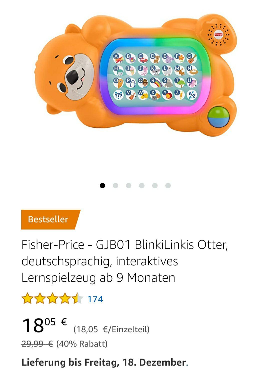 [Amazon Prime] Lernspielzeug BlinkiLinkis Otter von Fischer Price