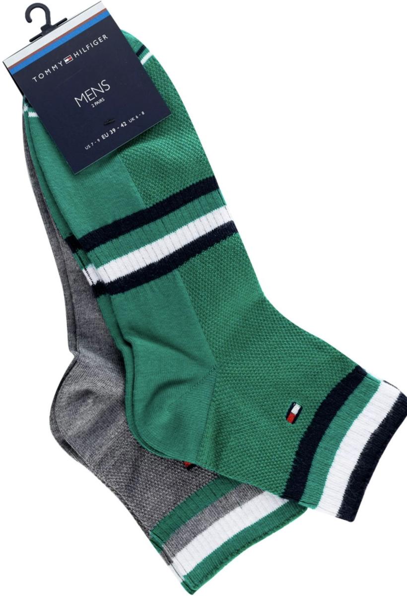 Tommy Hilfiger Socken 8 Stück in grau / grün für 26,85 Euro (39-42 oder 43-46)