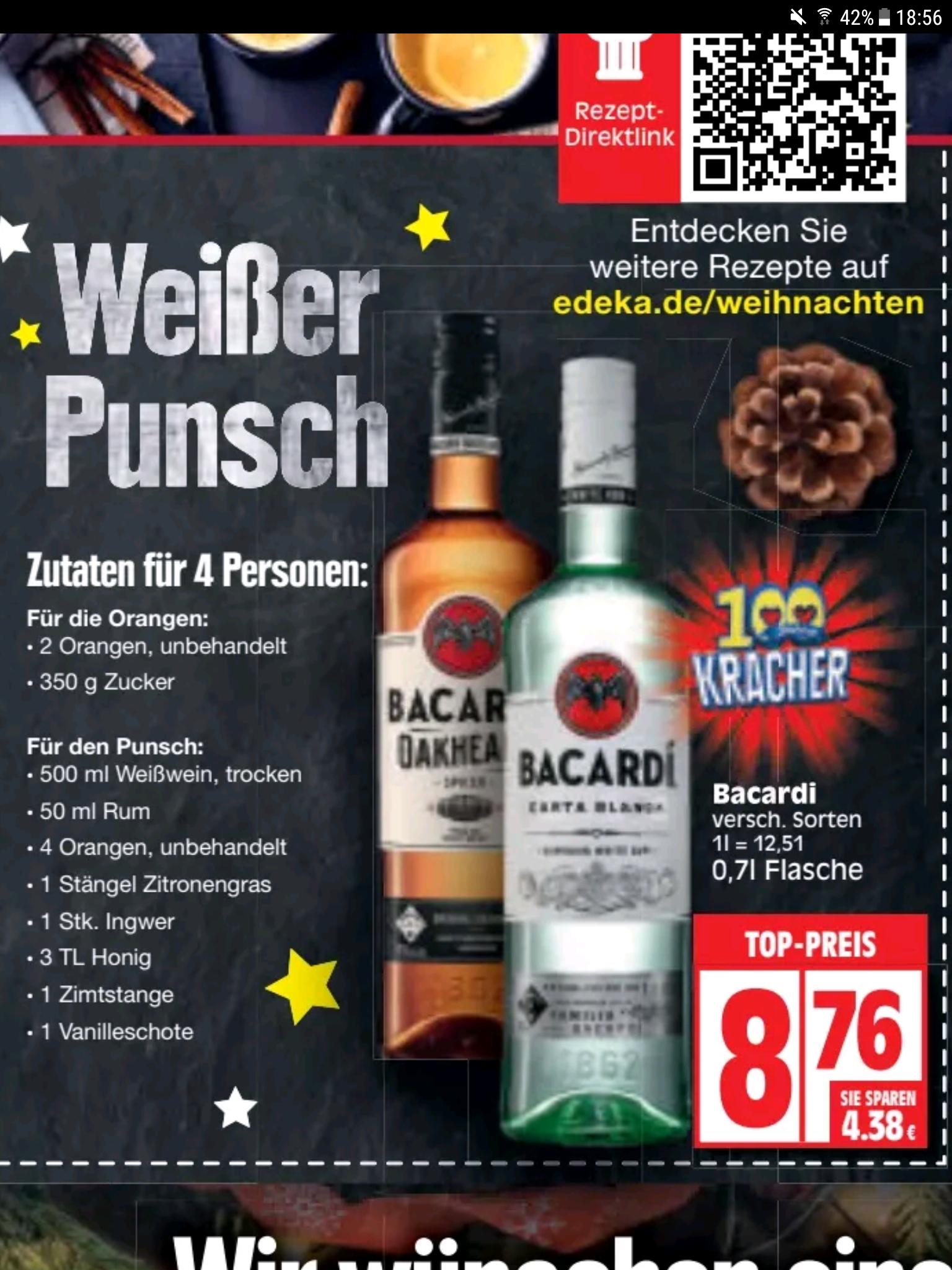 Edeka ( Berlin ) Bacardi und Oakheart 0,7l Flasche für nur 8,76