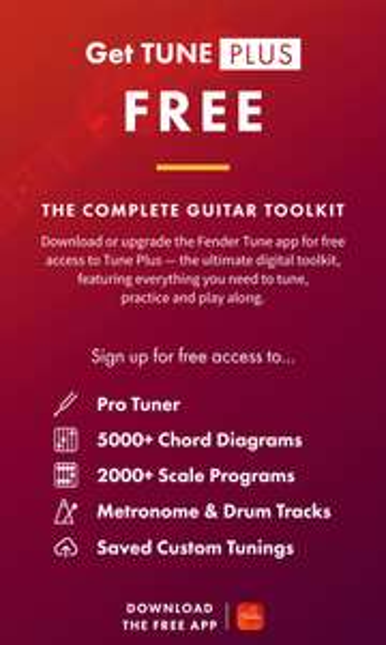 """Gitarre: Fender Tune App - """"Tune Plus"""" In-App Käufe aktuell kostenlos"""
