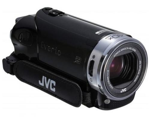 JVC GZ-E209 Camcorder mit Reserve Akku und Aufbewahrungstasche