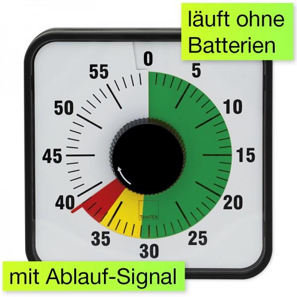 """[TIMETEX] Rücklaufuhr / Zeitdauer-Uhr """"Automatik"""" (ähnl. Time Timer) magnetisch 19x19cm (Schule, Lehrer, Therapie)"""