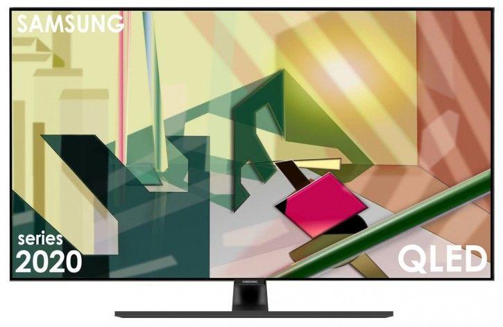 Samsung GQ65Q70TGT 165 65 Zoll QLED-Technologie Ultra HDR HD-Triple-Tuner Sat Antenne Kabel Smart TV 2020 Energieklasse A+ - 100HZ
