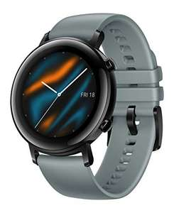 [Amazon / Otto] HUAWEI Watch GT 2 Smartwatch (42 mm Full-Color-AMOLED, 5ATM wasserdicht, GPS) Lake Cyan [+5 EUR Amazon Gutschein]