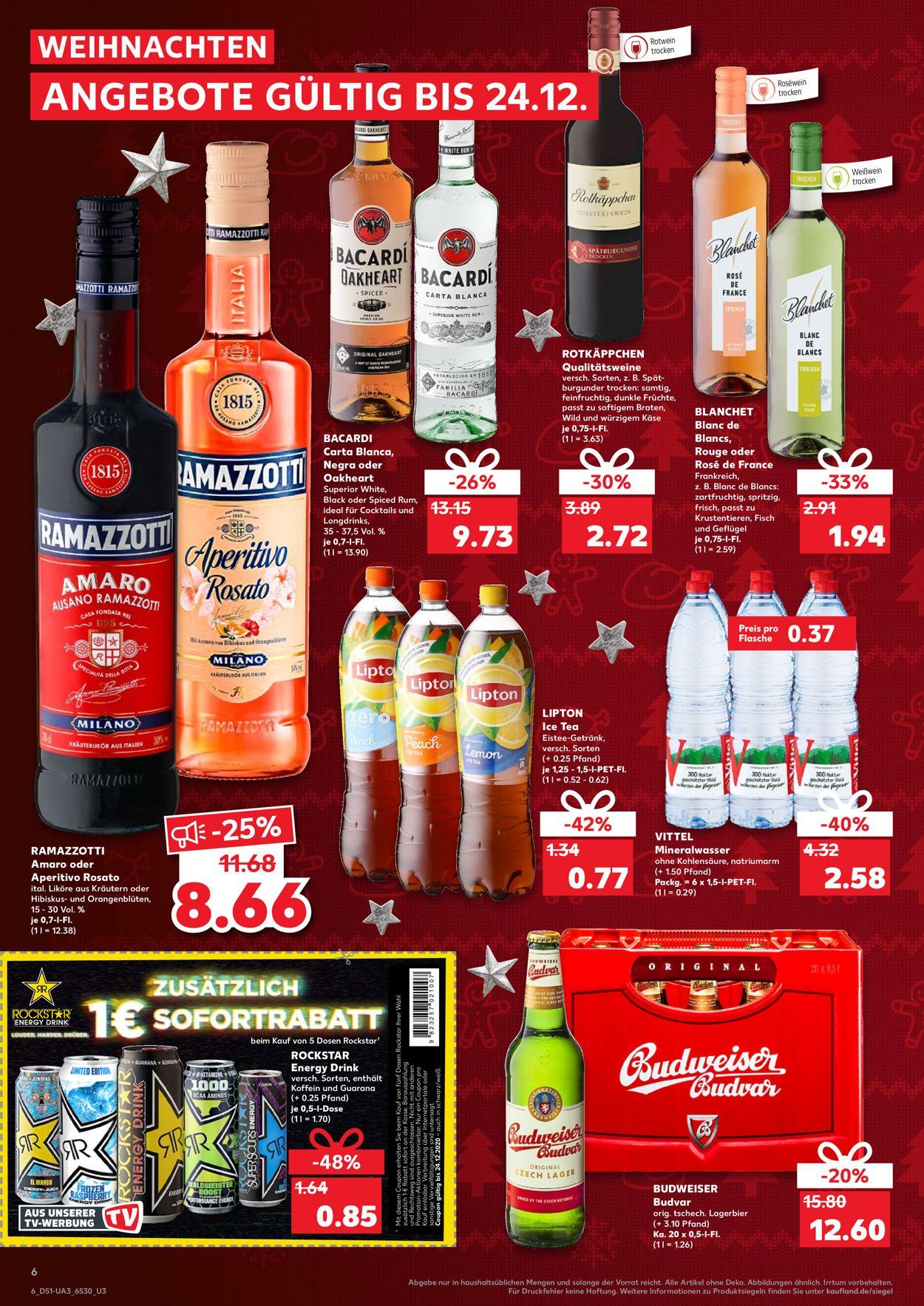 [Kaufland] Rockstar Energy Drink (ab 5 Stück sogar 0,65€ pro Dose)