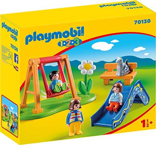 [Amazon Prime] PLAYMOBIL 70165 1.2.3. Baukran (für 11,70 €) / PLAYMOBIL 70130 1.2.3 Kinderspielplatz, ab 18 Monaten, bunt, One Size, 8 Teile