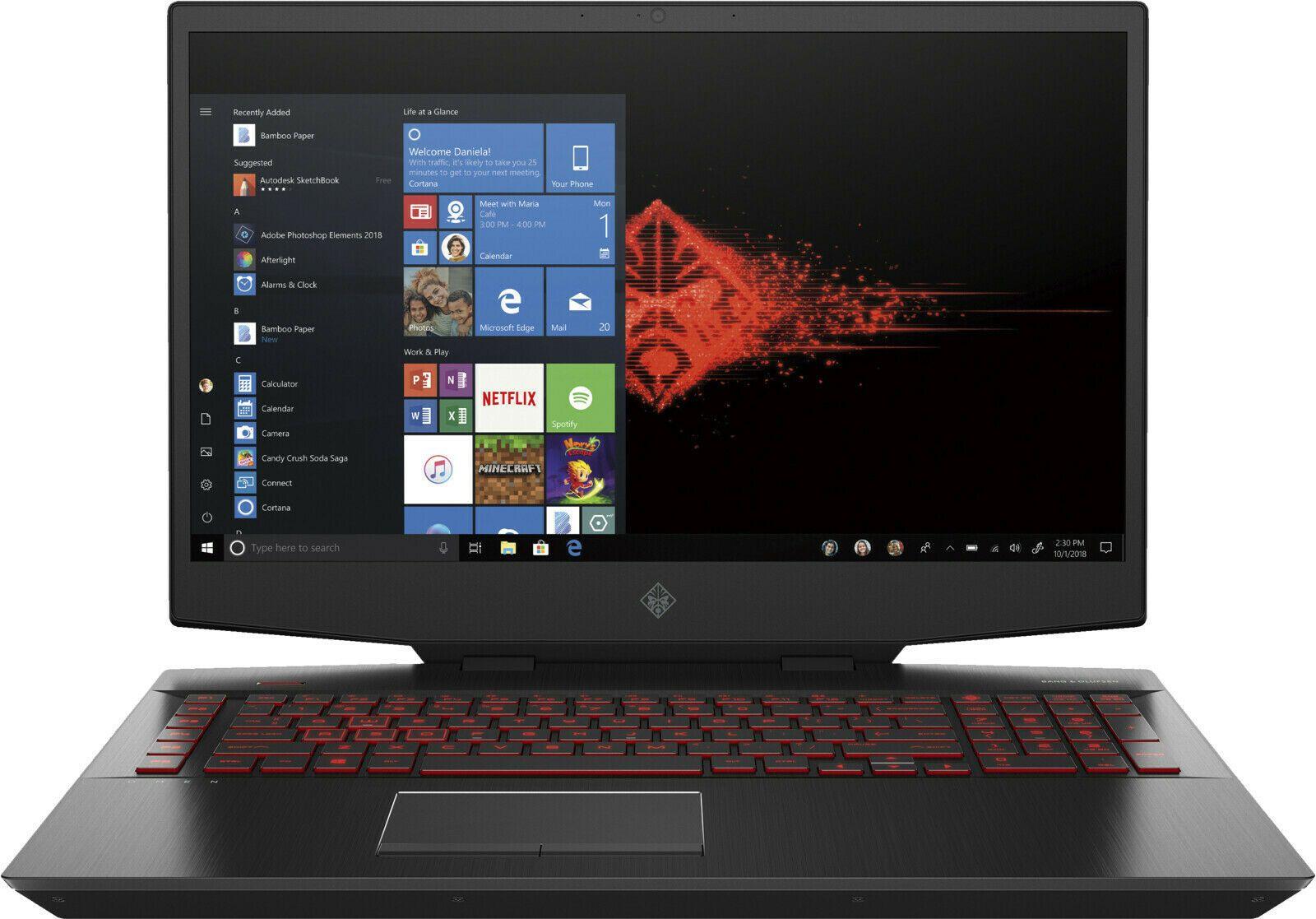 """HP Omen 17-cb1378ng (17.3"""" FHD IPS 144Hz 100% sRGB, i7-10750H, 16GB RAM, 512GB SSD, RTX 2070, bel. Tastatur, TB3, Alu, 70Wh, Win10 Home)"""