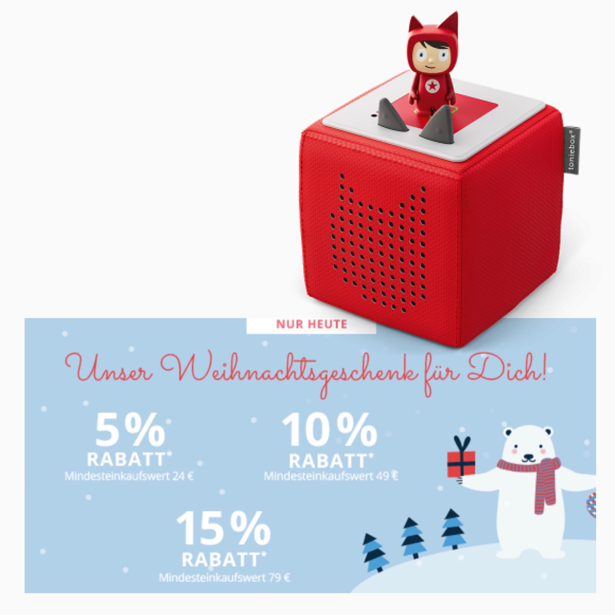 Baby Walz – bis zu 15% Rabatt | z. B. Toniebox für 69,95€ (inkl. Vesand) | Rot, Pink & Beere || [Rabatt gültig für z. B. joie]