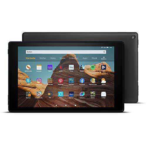 Fire HD 10-Tablet 10,1Zoll großes FullHD-Display (1080p), 64 GB, Schwarz, Mit Werbung
