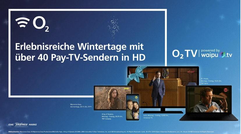 Winter-Special: o2 TV (waipuTV Perfekt Plus) 3 Monate gratis mit neuem Pay-TV-Paket testen