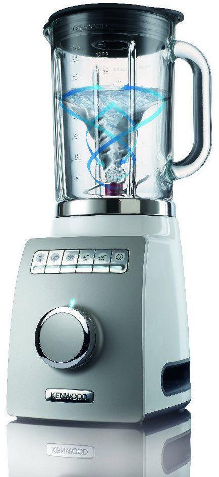 Kenwood BLM802 Standmixer, 1400 W, Krug 1,6 l, kälte- und hitzebeständig, 6 voreingestellte Programme, weiß/grau