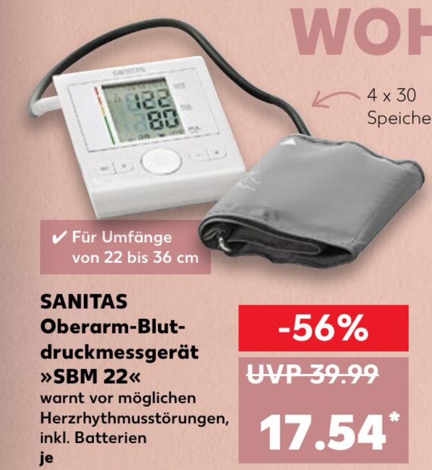 [Kaufland] Sanitas Oberarm Blutdruckmessgerät SBM 22