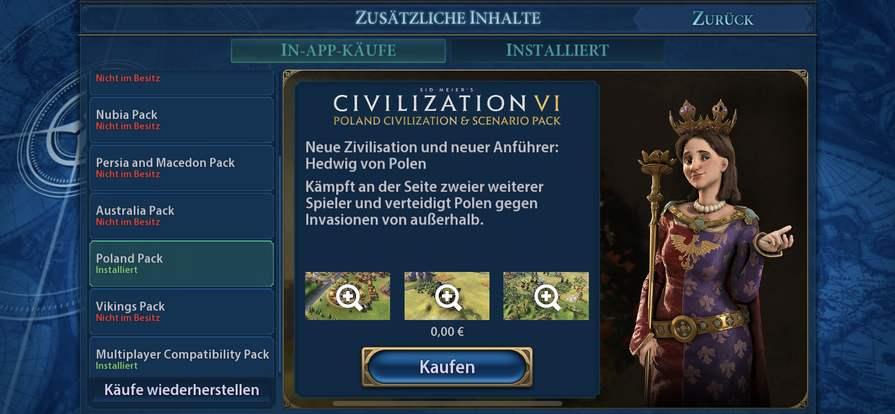 Civilization VI - Poland Civilization & Scenario Pack für IOS