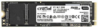 CRUCIAL P1, 1 TB QLC NVME m.2 2280 SSD, intern [ebay - Saturn-Shop]
