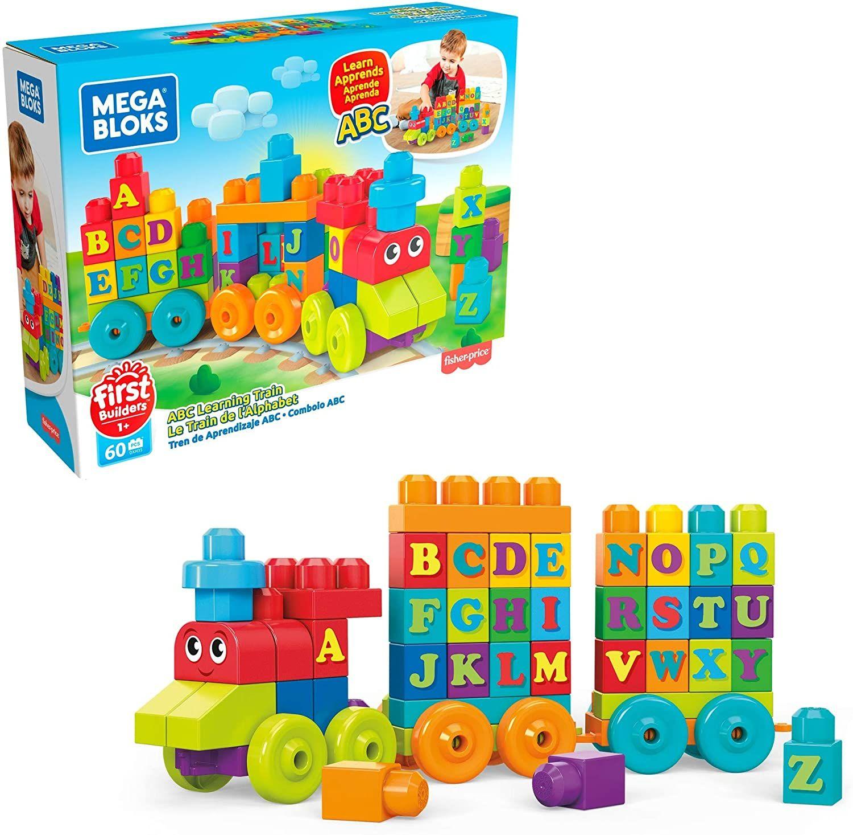 [Amazon Prime] MEGA DXH35 Bloks Mattel DXH35-ABC Lernzug, ab 12 Monaten, 60 Teile