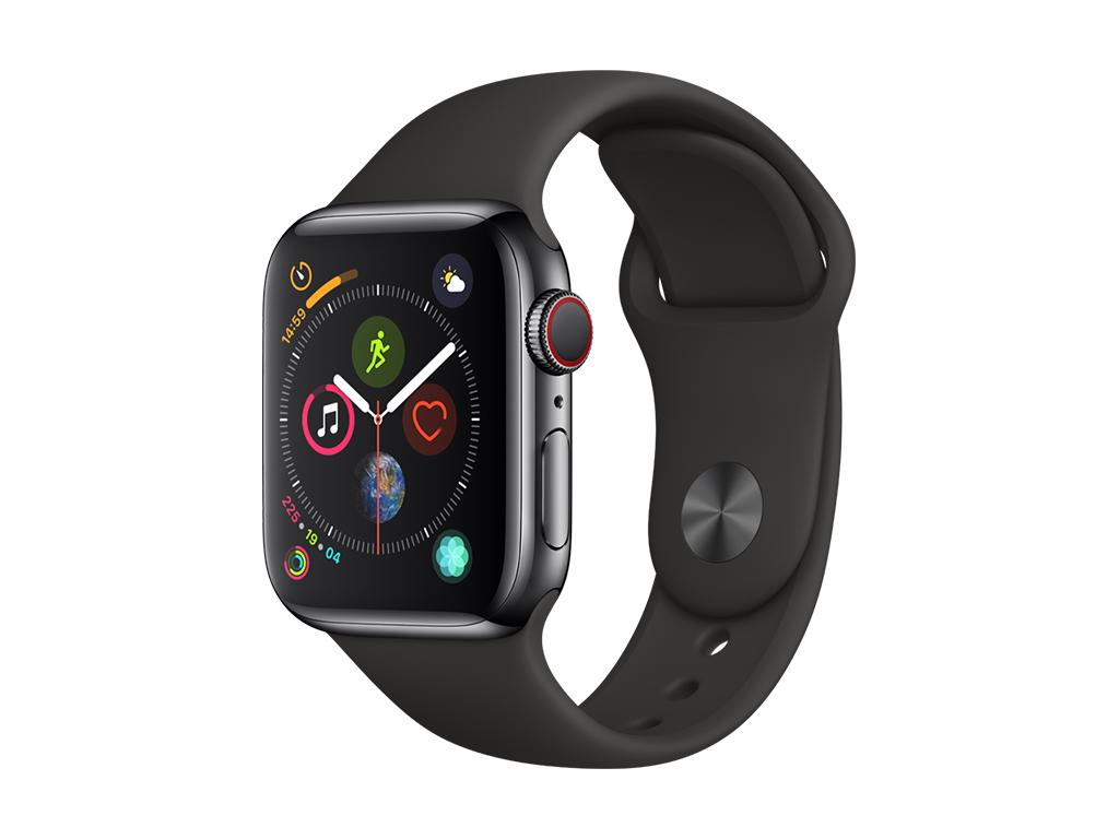 Bestpreis! Apple Watch Series 4 GPS + Cellular 40mm space schwarz Edelstahl