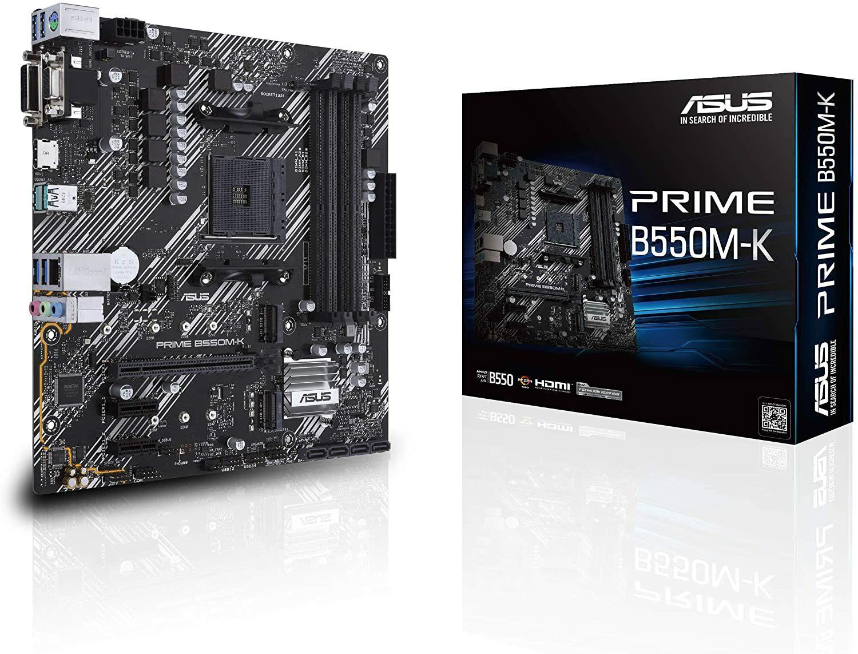 Asus Prime B550M-K micro ATX Mainboard - Sockel AM4 (Amazon.es)