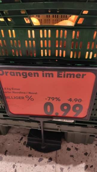Lokal - 1 Eimer Orangen 7-9 kg für 0,99€ Kaufland Dresden