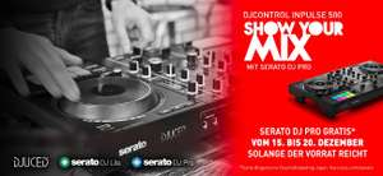 Hercules DJControl Inpulse 500 mit gratis Serato DJ PRO