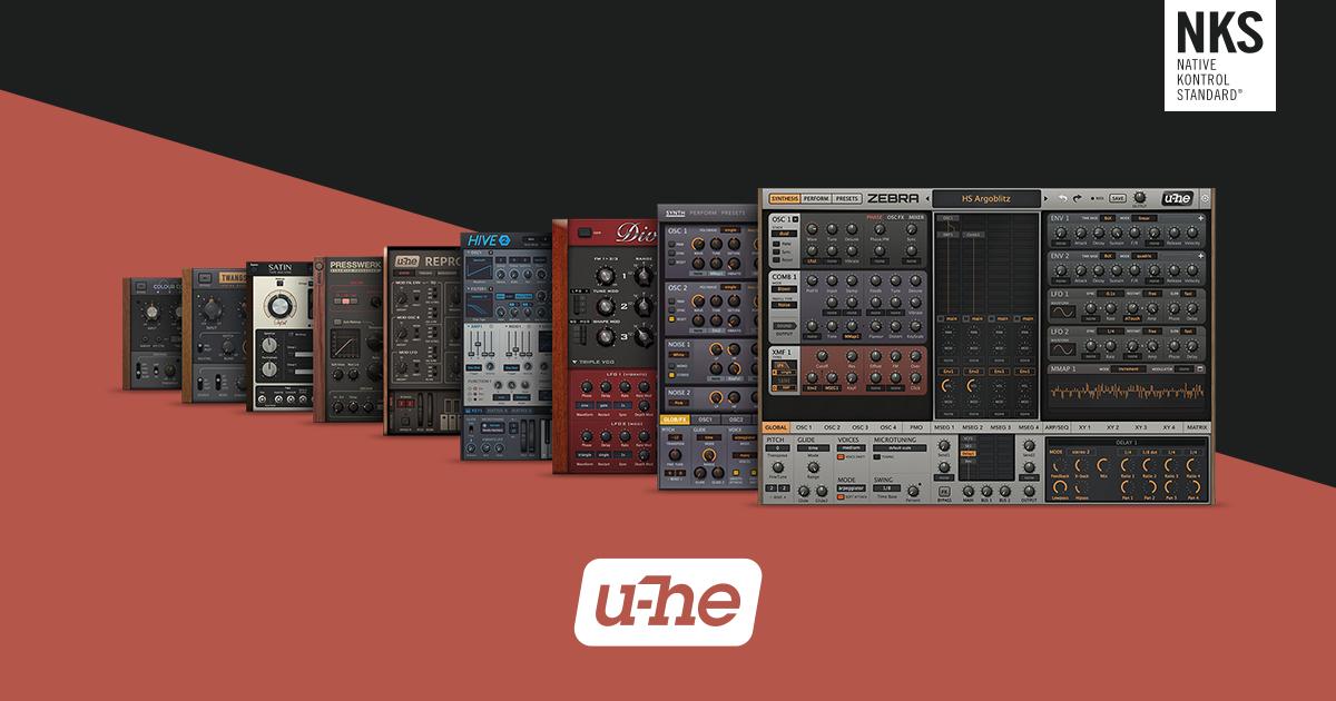 u-he Sale: 60% Rabatt auf die Collection / 50% auf einzelne Synths und Effekte [ Musikproduktion / VST / AU ]