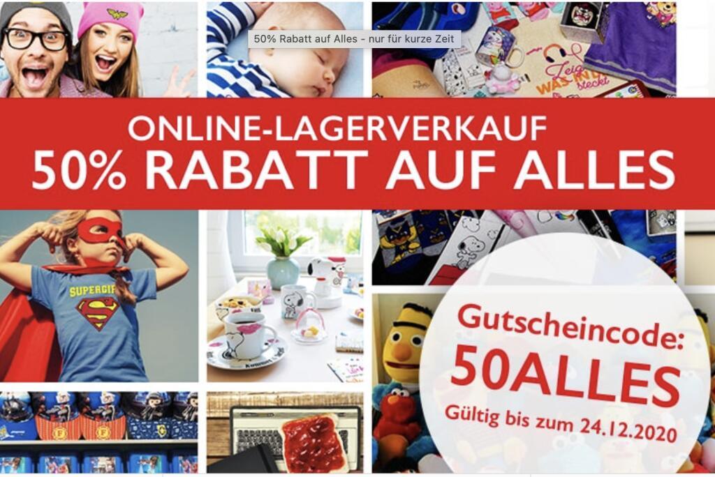 [Elfen.de] Online-Lagerverkauf -50% auf alles z.B. Harry Potter, Peppa Wutz, Mia & Me, Disney, u.v.m.