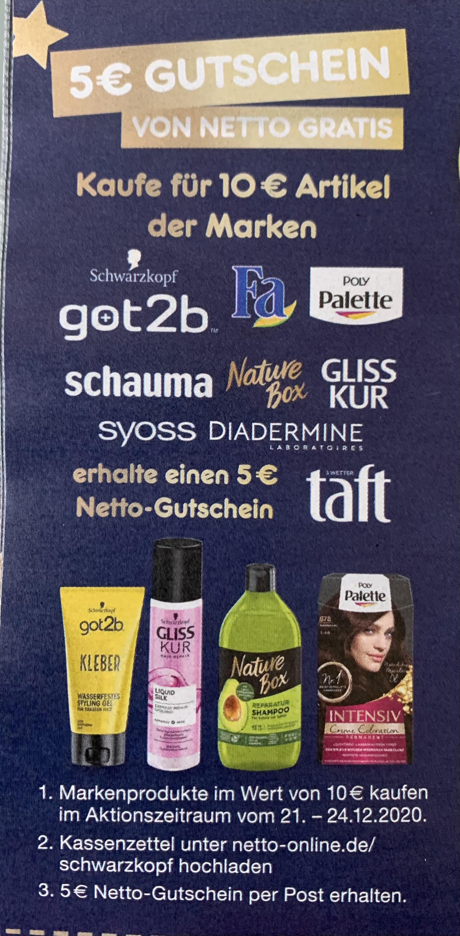 5€ Netto Gutschein Schwarzkopf Aktion