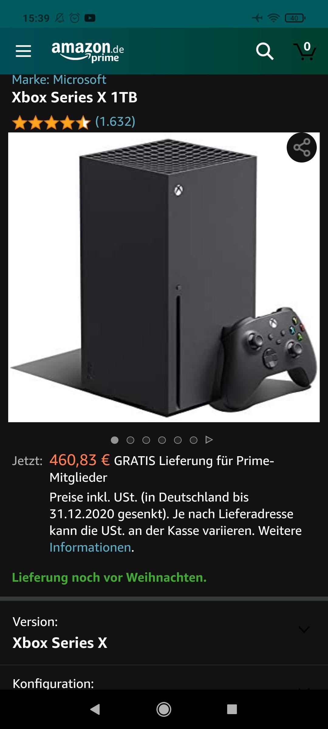 Xbox Series X Amz Warehouse