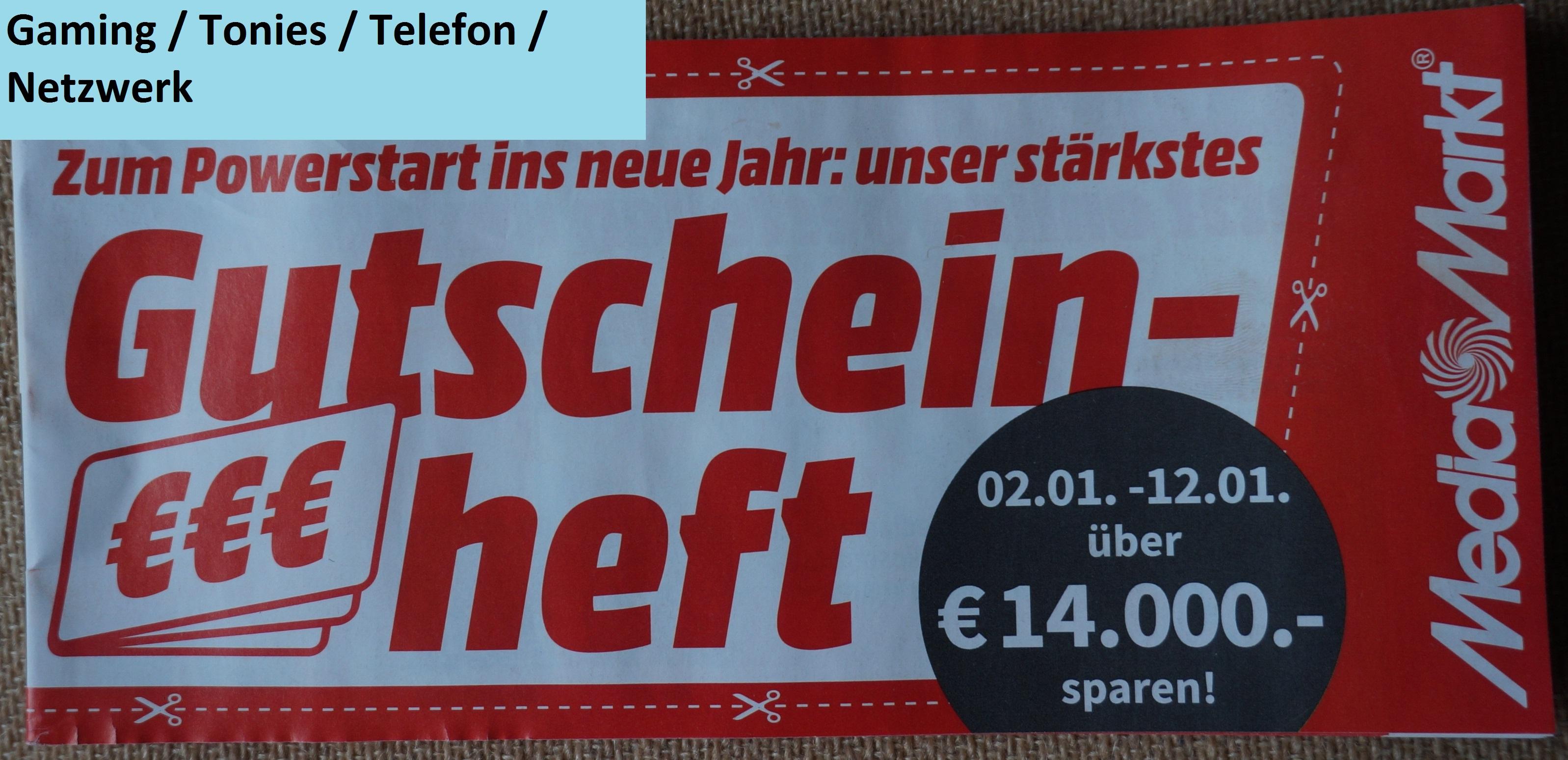 [Media Markt] Nur Online - Gutschein Heft: Gaming / Tonies / Telefon / Netzwerk gültig 02.01.2021 - 13.01.2021