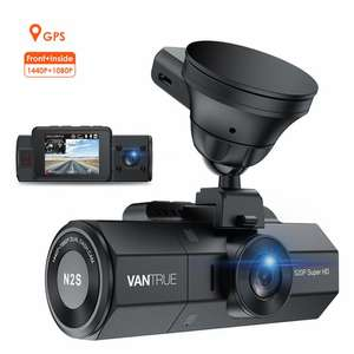 VANTRUE N2S 4K GPS Dashcam Dual Lens 1440P+1440P
