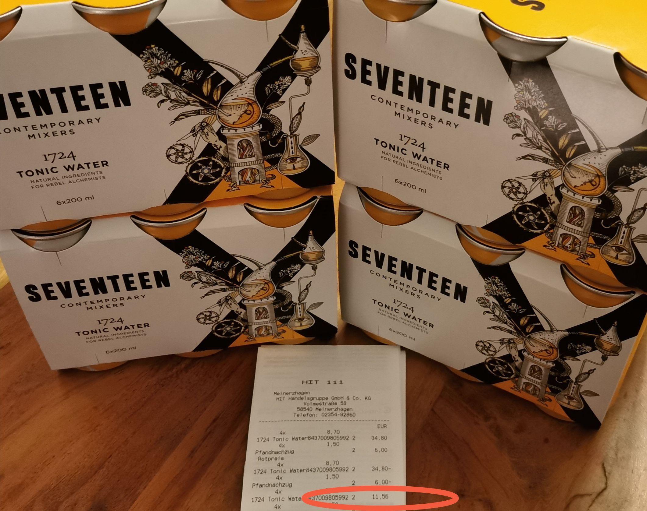 (lokal) Seventeen 1724 Tonic Water bei HIT Meinerzhagen