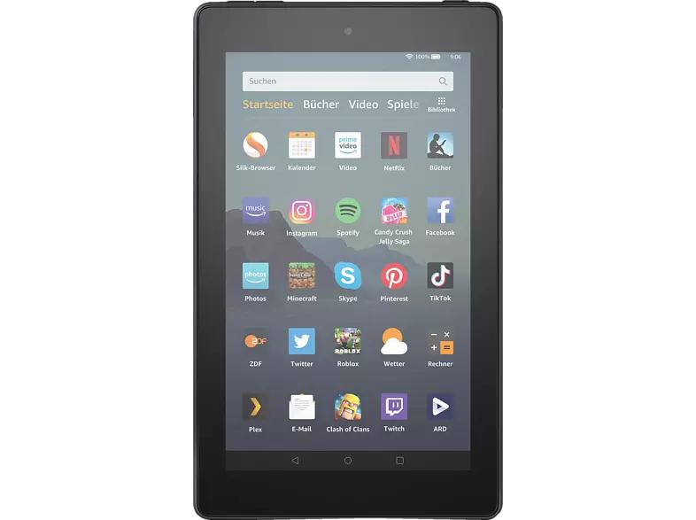 AMAZON Fire 7, Tablet, 16 GB, 7 Zoll, Schwarz [MM & SE]