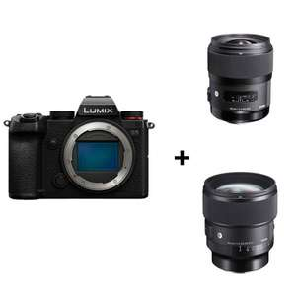 Panasonic Lumix S5 Systemkamera inkl. Sigma Art 35F1,4 & 85F1,4 Objektiv | Images-Photo Lyon FR