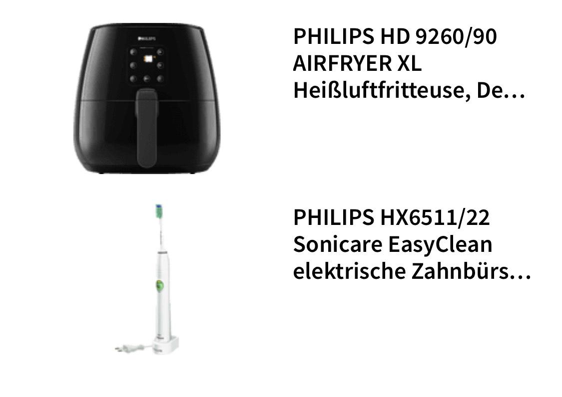 Zahnbürste HX6511/22 + PHILIPS HD 9260/90 AIRFRYER XL