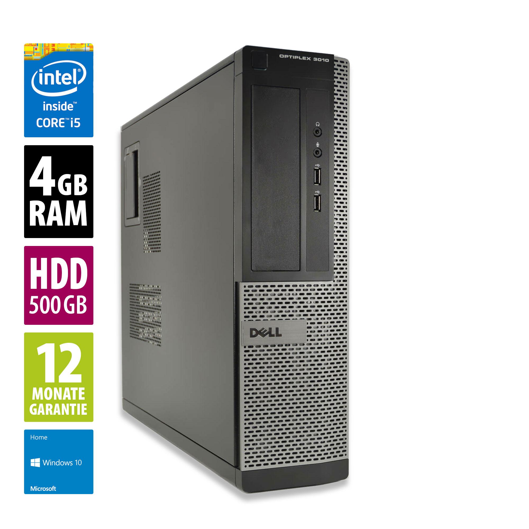 Refurbished - Dell OptiPlex 3010 DT - Core i5-3470 @ 3,2 GHz - 4GB RAM - 500GB HDD