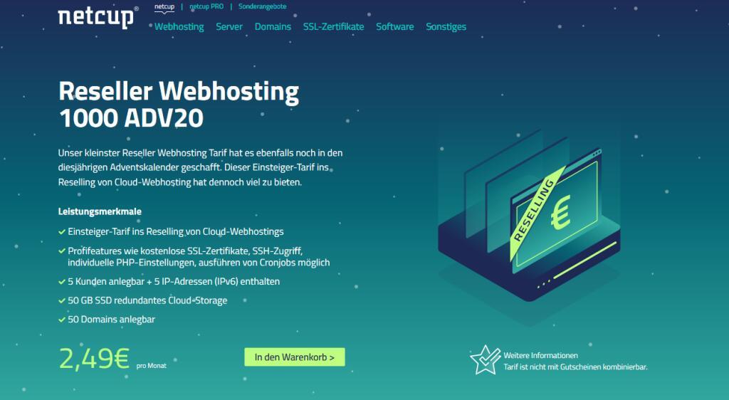 [Netcup] Reseller Webhosting 1000 ADV20