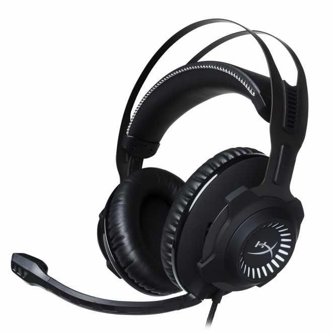 HyperXCloud Revolver Gaming-Headset 50-mm-Treiber abnehmbares Mikrofon (Schwarz) [Expert Technomarkt]