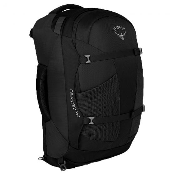 (Markenkoffer) Osprey Fairview 40 Black Edition (Damen-) Reiserucksack Handgepäck