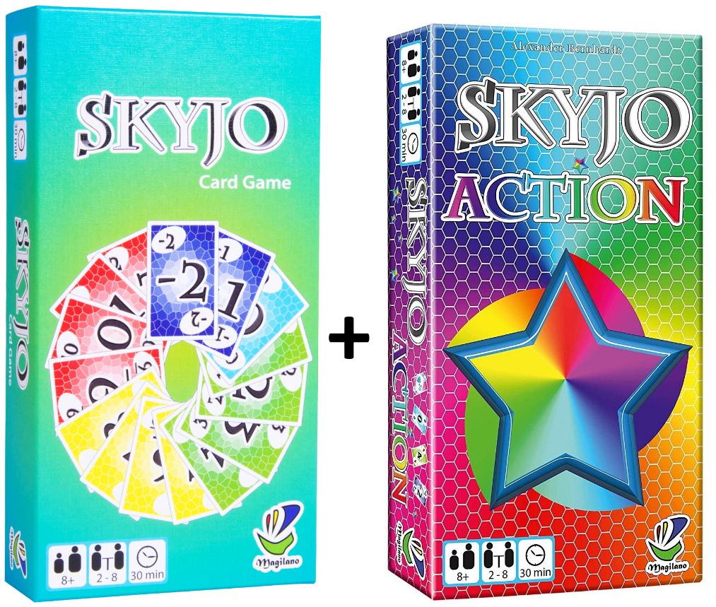 Spielebundle: Skyjo + Skyjo Action (Kartenspiel, 2-8 Spieler, ~30-40min Spielzeit, BGG 6.9 bzw. 6.3)
