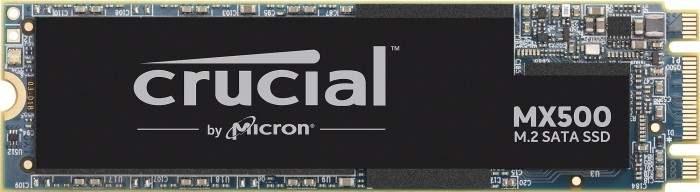Crucial MX500 500GB (interne SSD, M.2, SATA, 3D-NAND TLC, R560MB/s, W510MB/s, 512MB DRAM Cache, 180TBW/5J Garantie)