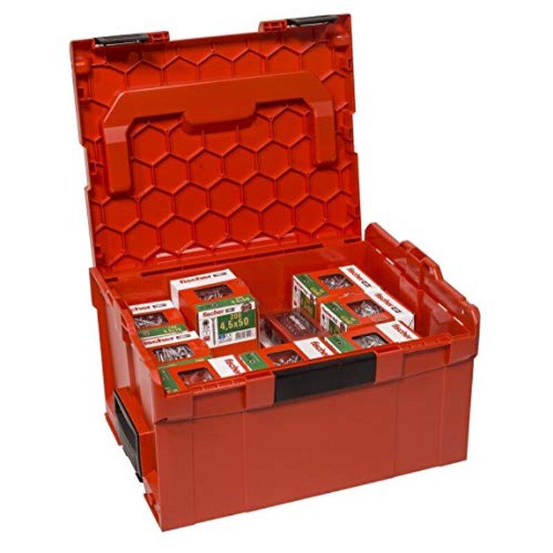 FISCHER Power Fast L-BOXX 238 (3.400 Schrauben + Fischer Bit-Set)