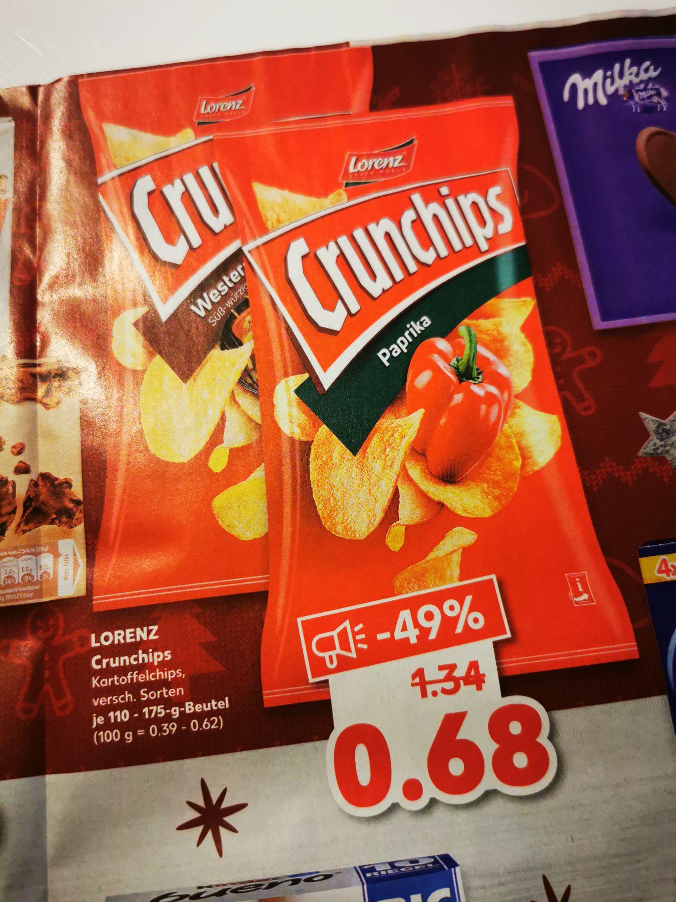 [Kaufland] Crunchips versch. Sorten 110-175 Gramm