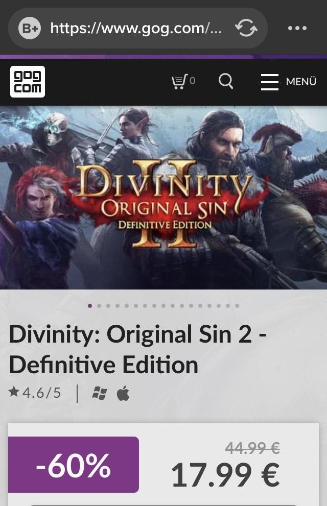 Divinity: Original Sin 2 - Definitive Edition Pc & Mac