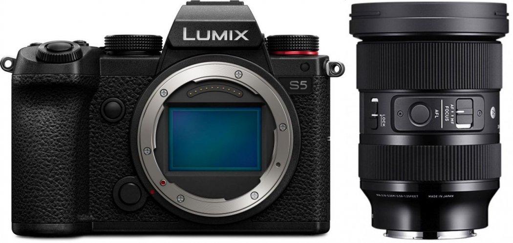 Panasonic Lumix DC-S5 Systemkamera + Sigma 24-70mm F2,8 DG DN Art Objektiv für L-Mount
