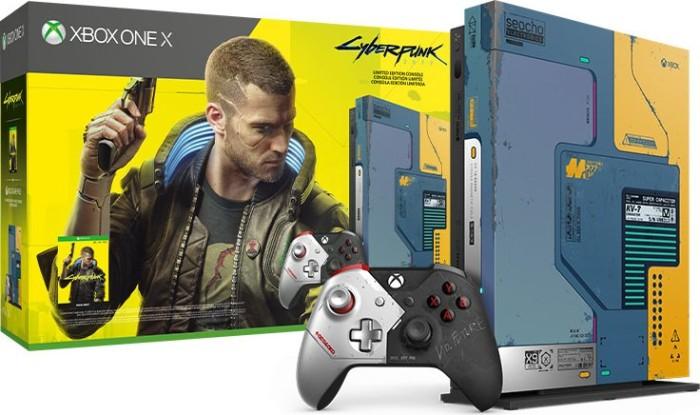 Microsoft Xbox One X - 1TB Cyberpunk 2077 Limited Edition Bundle blau/gelb