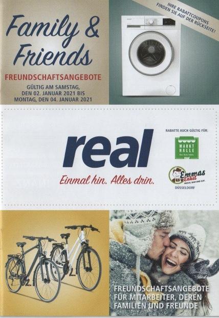 Real Family & Friends 02.01-04.01.2021: Apple AirPods 2 106,40€; 20% auf Samsung TVs, Switch-Konsolen und Wearables